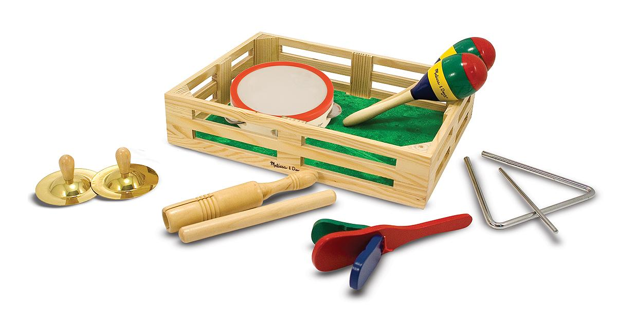 Toy Musical Instruments : Melissa doug band in a box clap clang tap piece