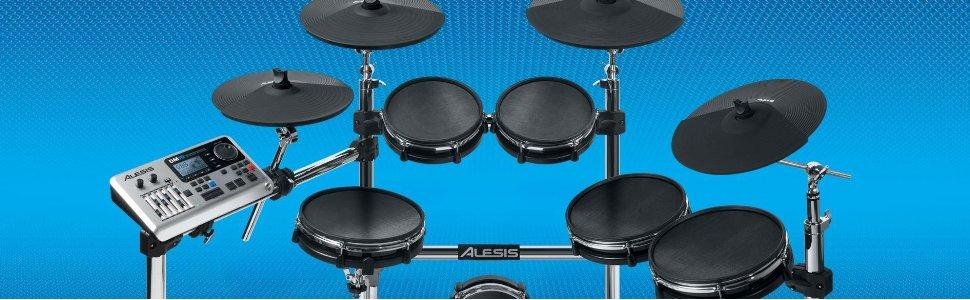 alesis dm10 x mesh kit premium ten piece professional electronic drum set with chrome xrack. Black Bedroom Furniture Sets. Home Design Ideas