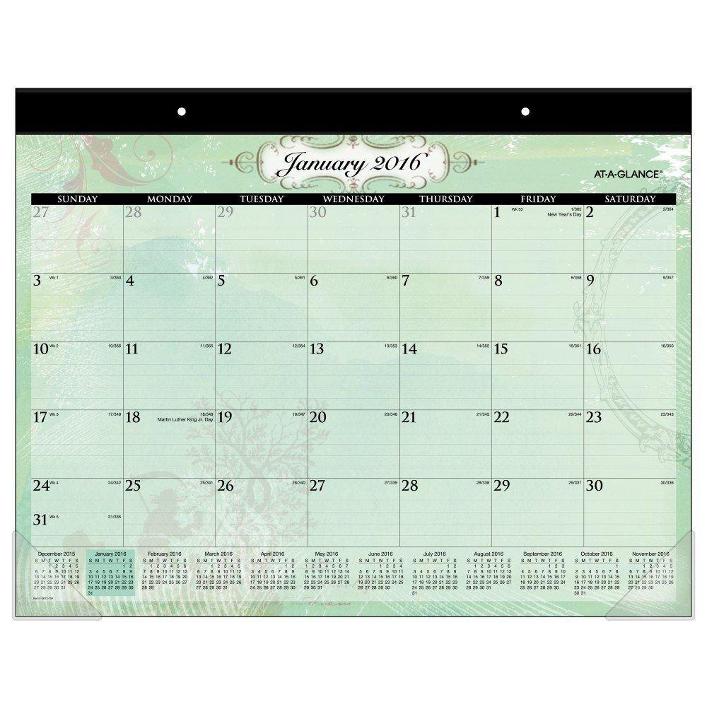 At A Glance Desk Pad Calendar 2016 Poetica 21 75 X 15 5 Inches