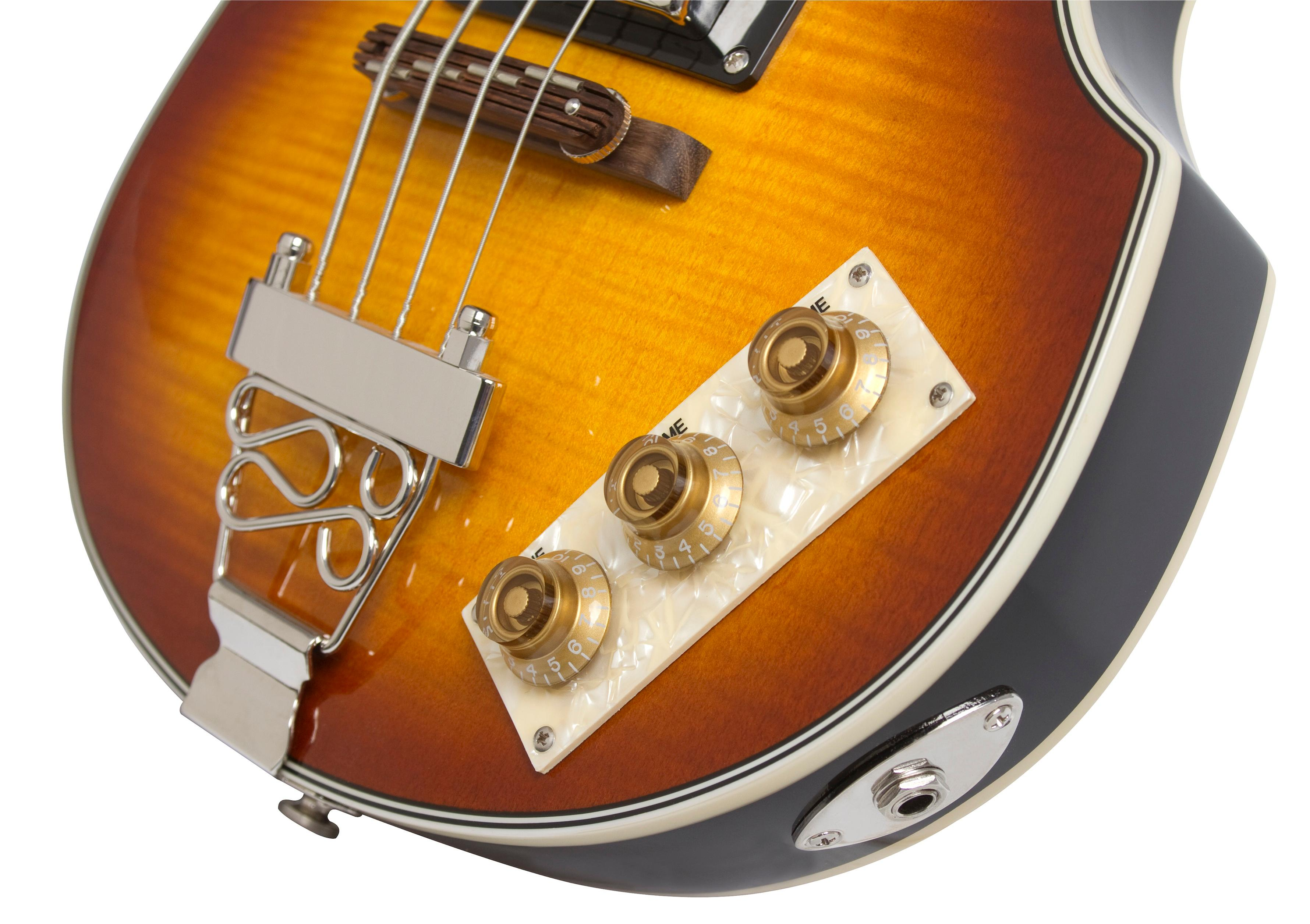 epiphone viola electric bass guitar vintage sunburst