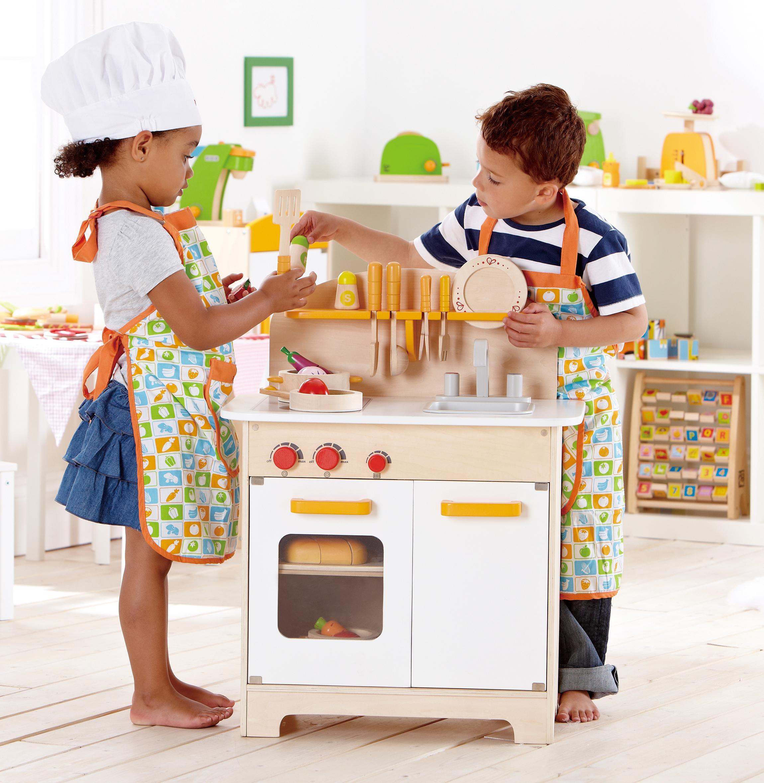 Kitchen Set Ukuran 1 Meter: Hape Gourmet Play Kitchen Starter Accessories Wooden Play