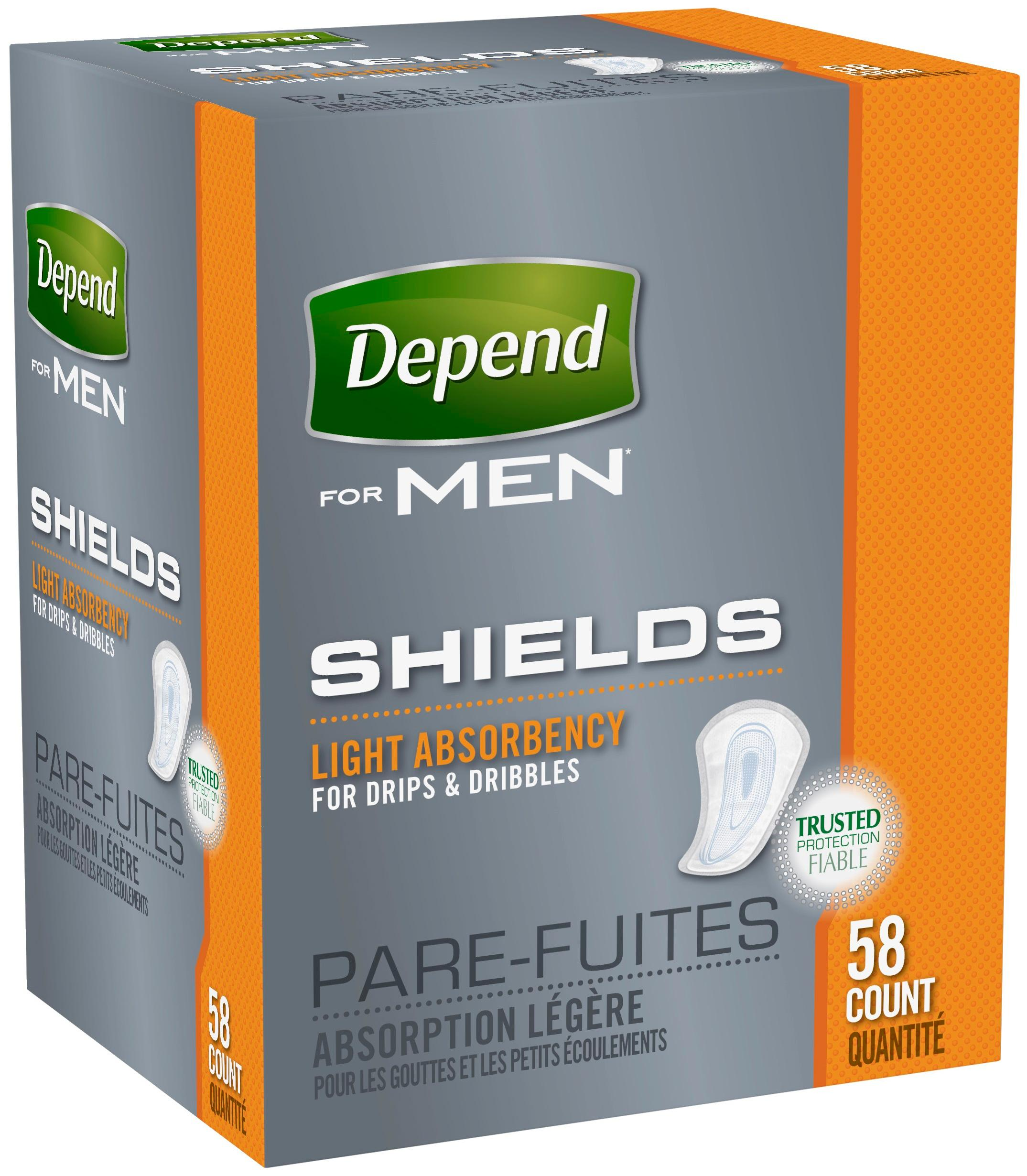 Depend Shields For Men 58 Count Amazon Ca Health