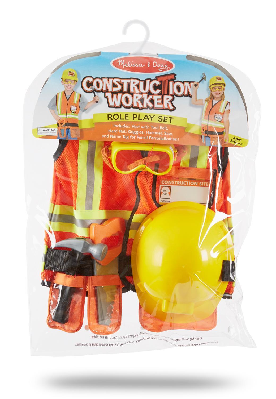 melissa doug construction worker costume role play set amazon product description