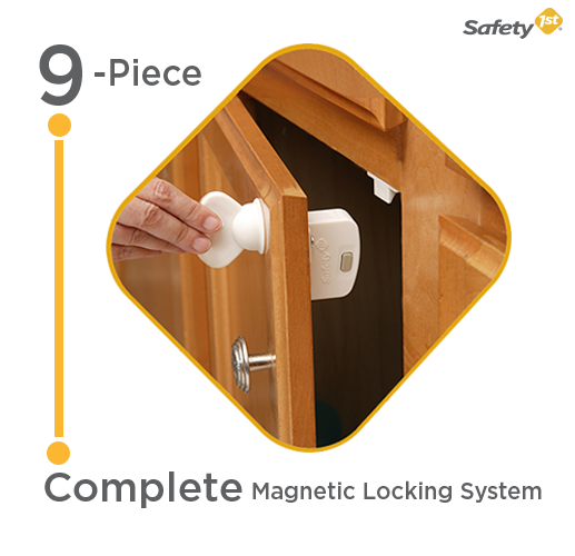 Safety 1st Magnetic Cabinet Locks, 8 Locks + 1 Key: Amazon.ca: Baby