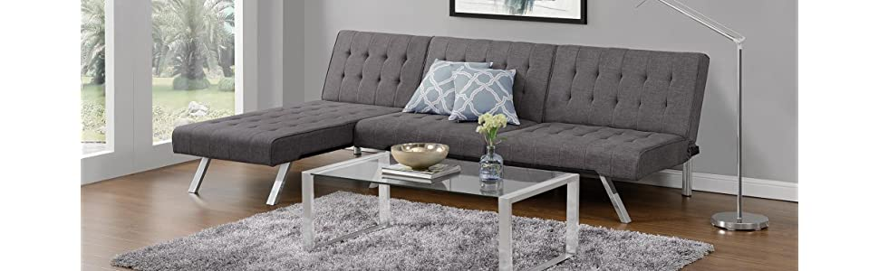 Best Futon Mattress Amazon. Emily Chaise Lounger And Sofa Futon