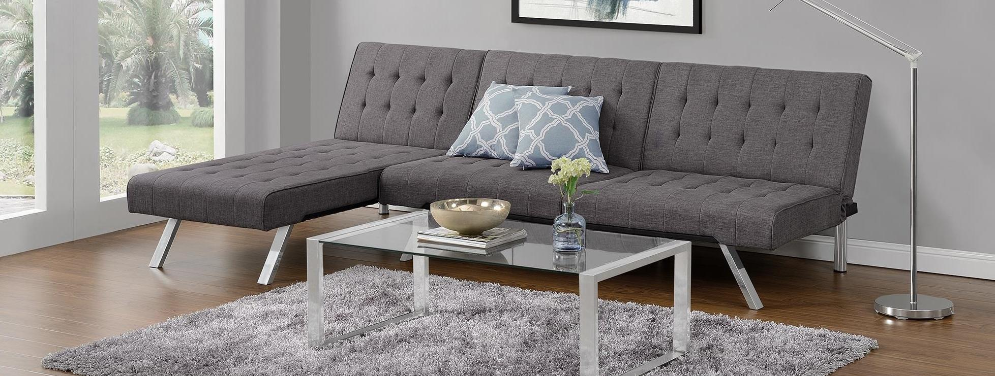 Emily Chaise Lounger and Sofa Futon  sc 1 st  Roselawnlutheran | Decor Ideas : futon with chaise lounge - Sectionals, Sofas & Couches