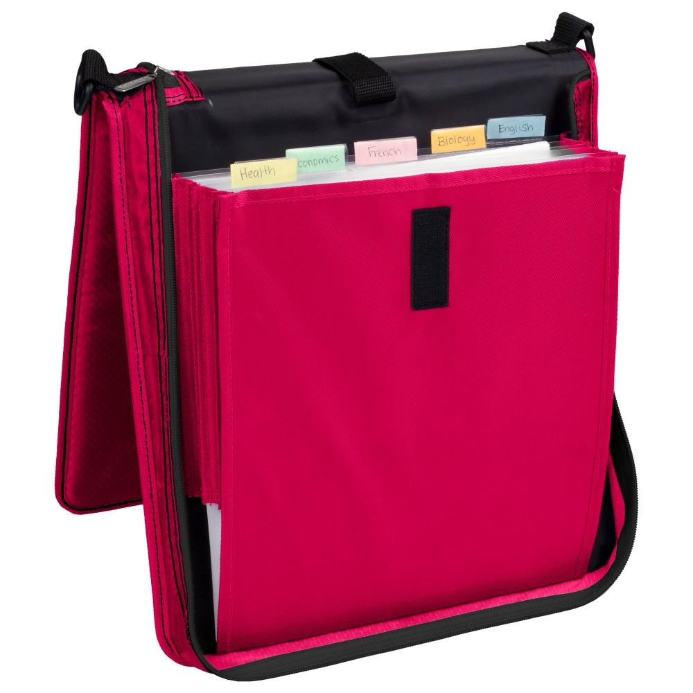 Five Star Vertical Flip Zipper Binder, 2 Inch, 3 Round