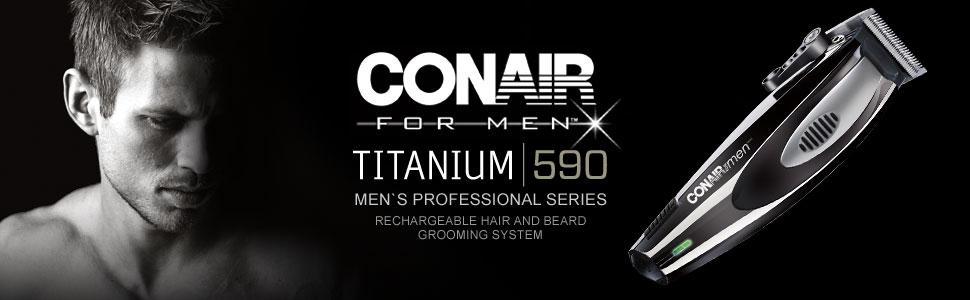 Titanium 590 Système de toilettage pour cheveux et barbe
