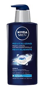 body lotion, reviatlizing, men's lotion, NIVEA MEN