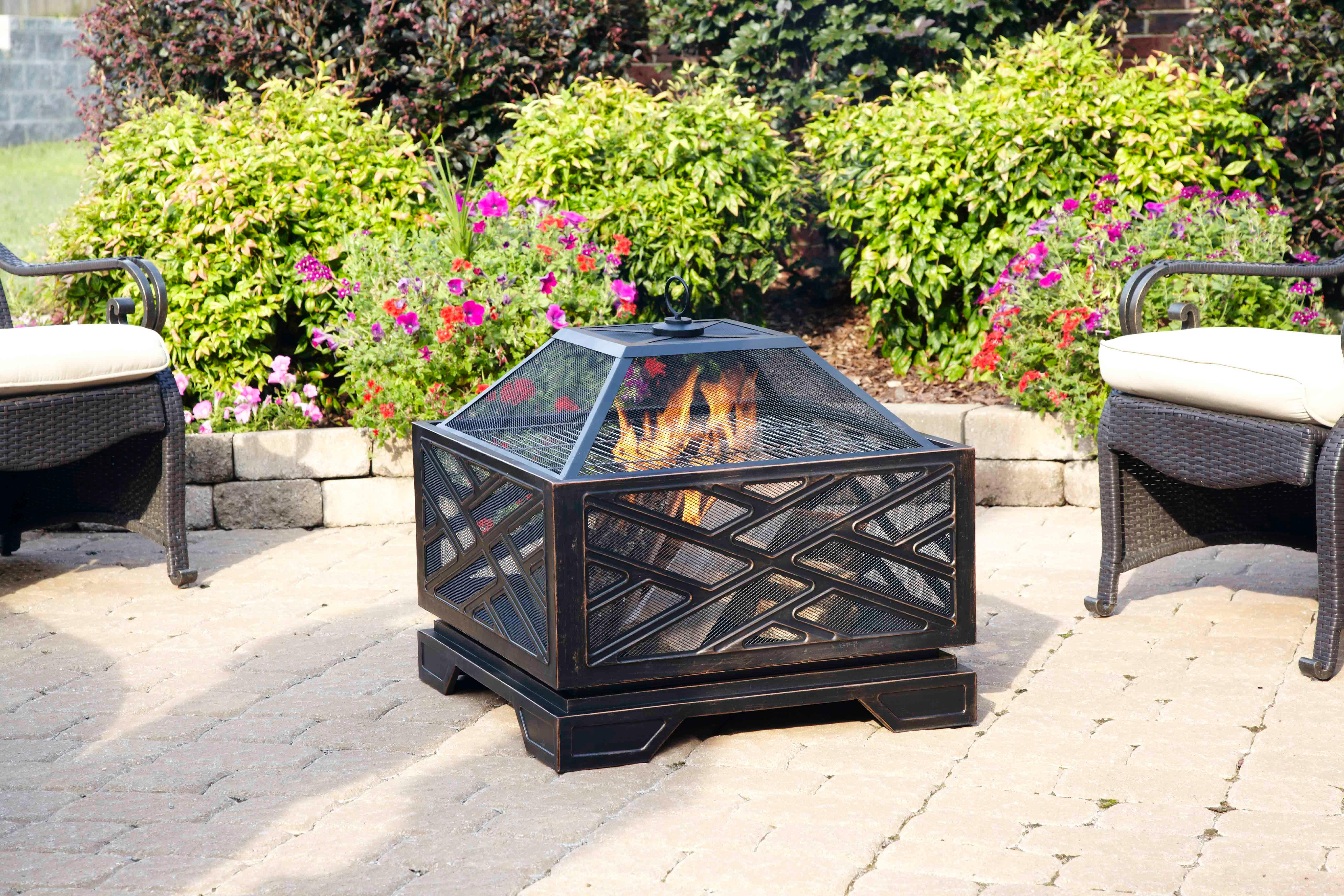 Pleasant Hearth Martin Extra Deep Wood Burning Fire Pit 26 Inch