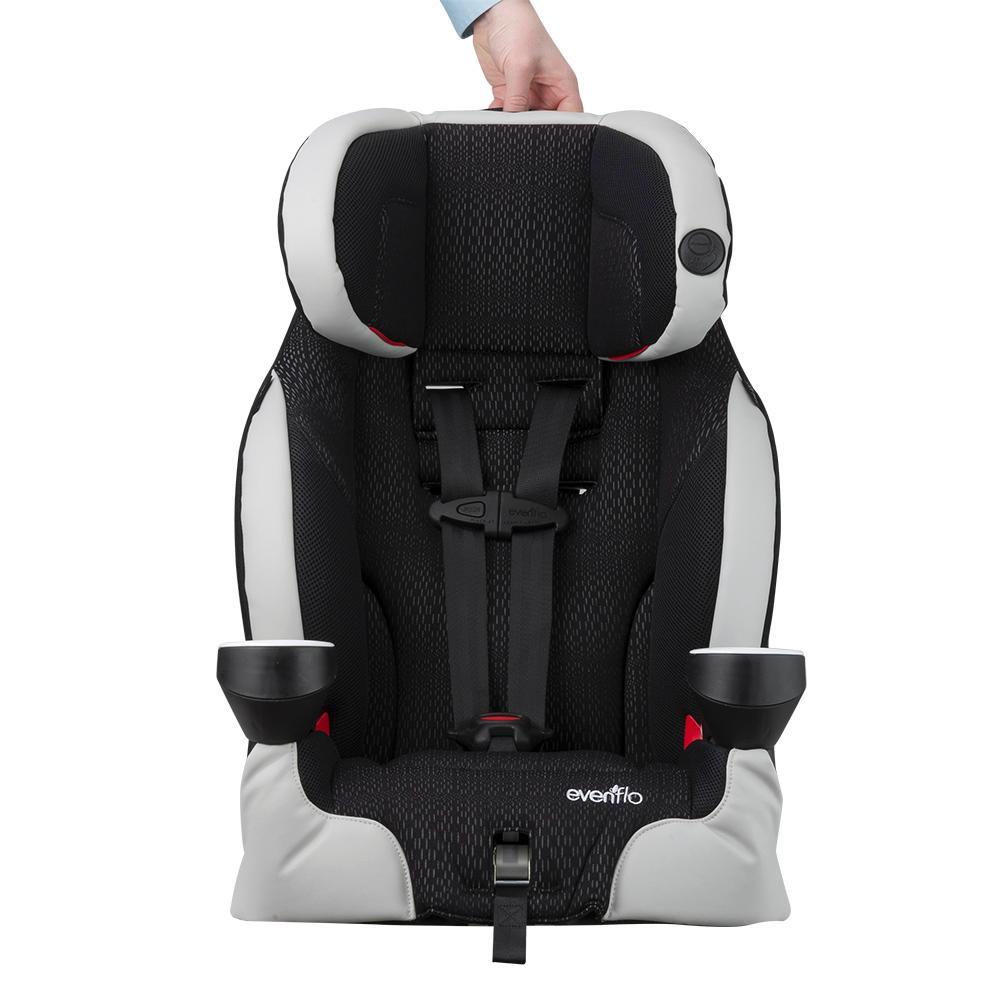 evenflo securekid lx harnessed booster car seat kohl grey red baby. Black Bedroom Furniture Sets. Home Design Ideas