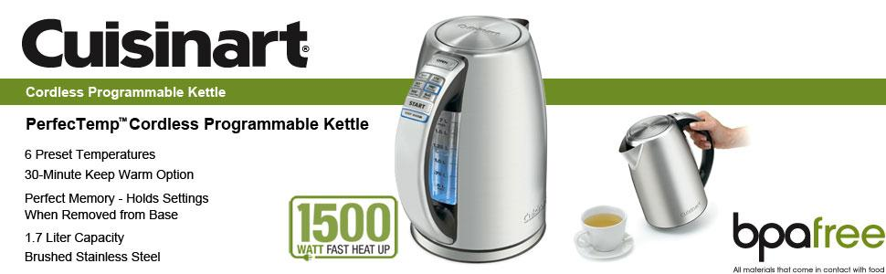 PerfecTemp Cordless Electric Programmable Kettle