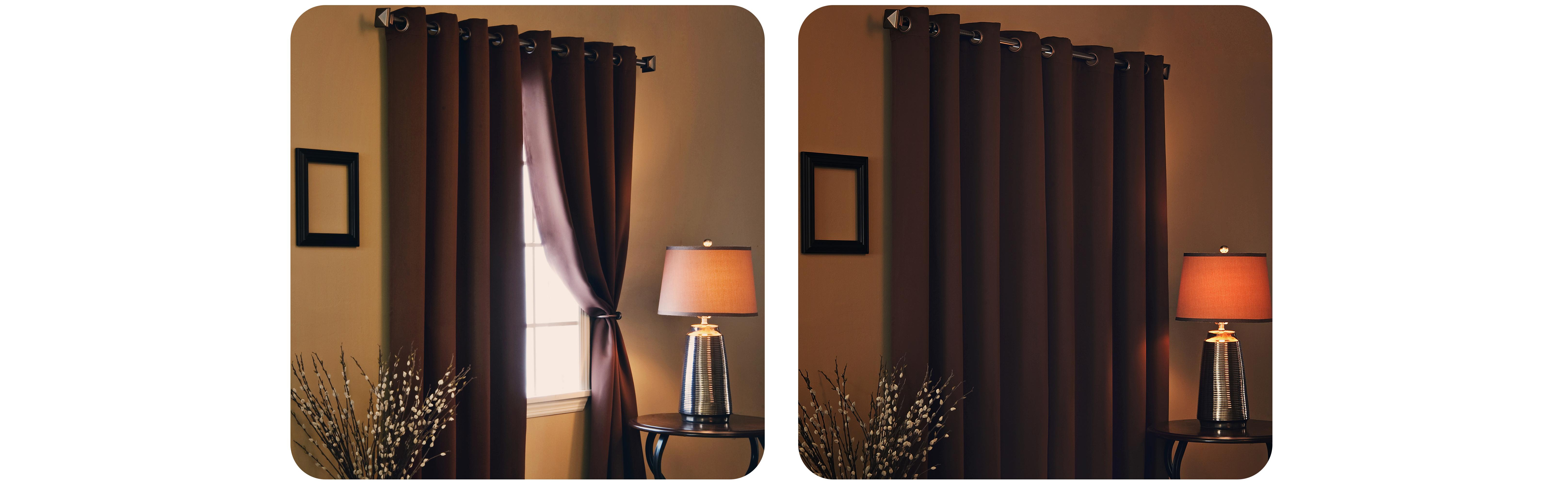 Best Home Fashion Wide Width Thermal Insulated Blackout Curtain Antique Bronze Grommet Top