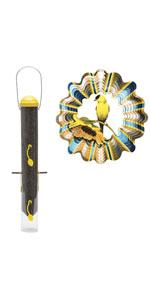 Perky-Pet Perky-Pet All-in-One Finch Feeder and Goldfinch Wind Spinner Set