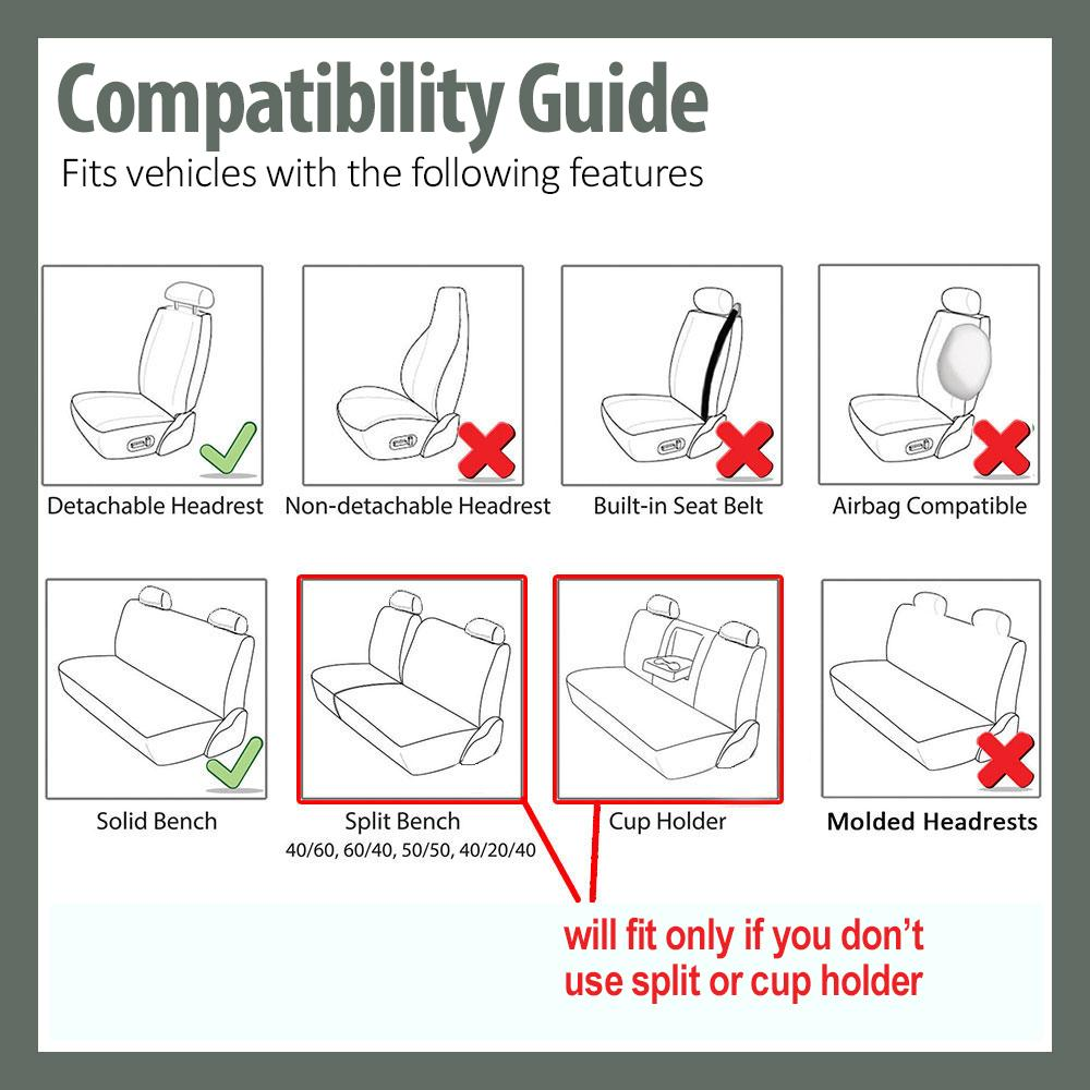 FH Group Universal Fit Front Car Seat Cover