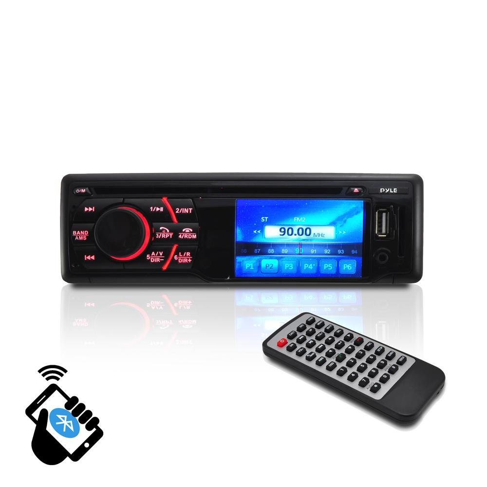 Pyle Pld34mub Bluetooth In Dash Digital Video Head Unit Receiver Plcm18bc Wiring Diagram