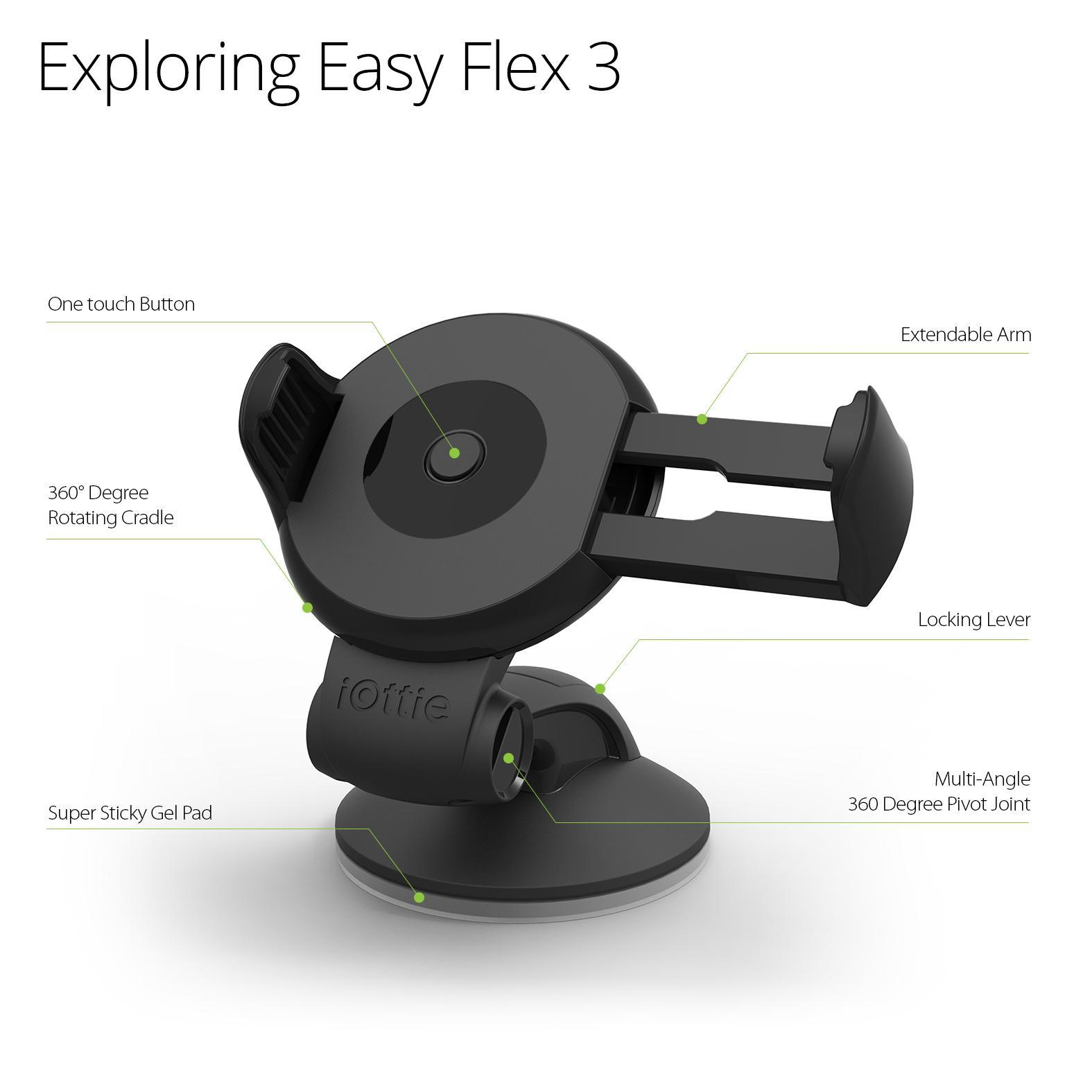 Iottie Easy Flex 3 Car Mount Holder For Iphone 7 6s 6
