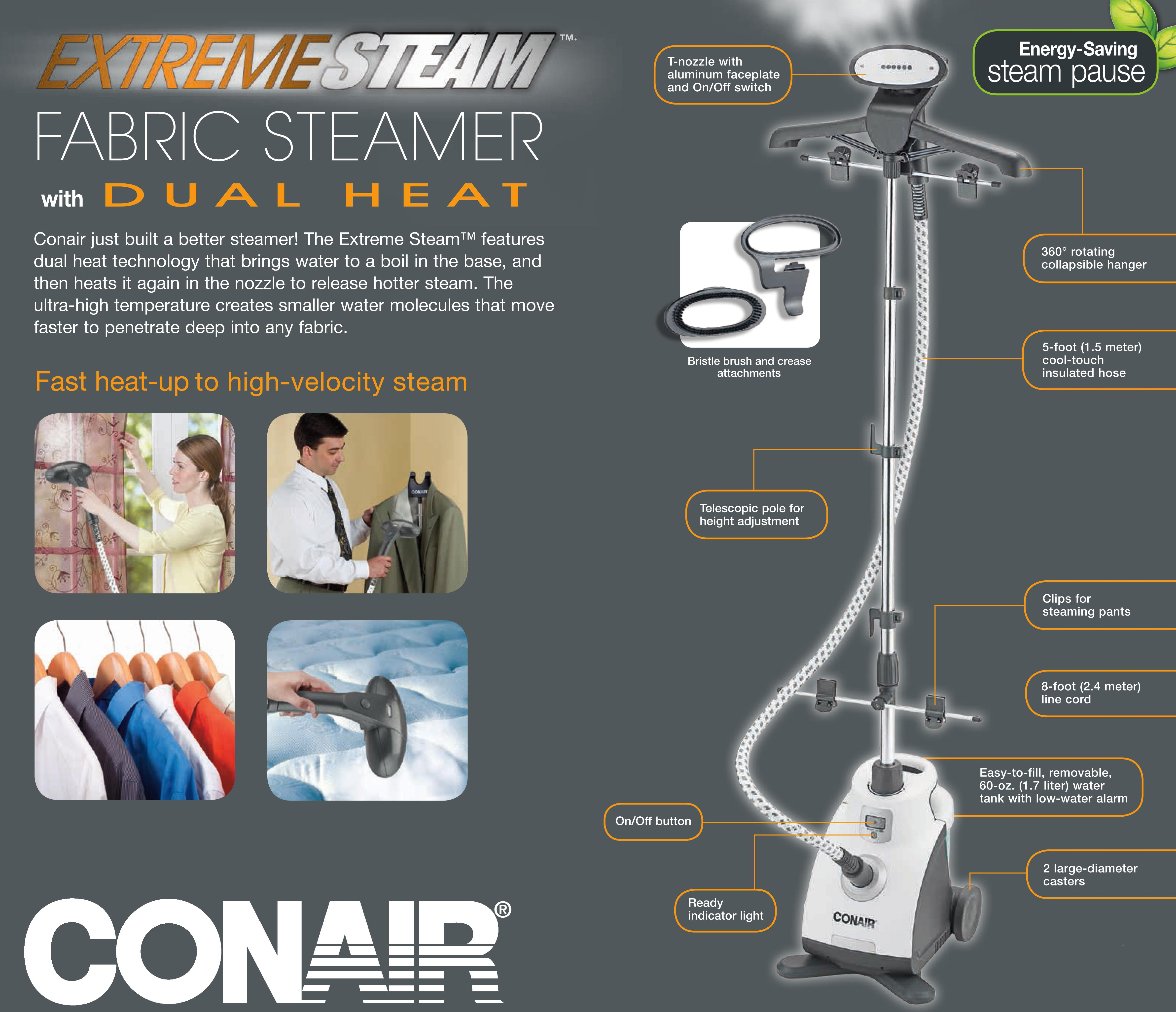 conair turbo extreme steam instructions