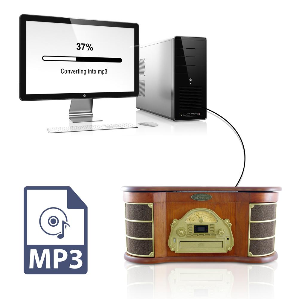 Pyle home ptcd54ub bluetooth vintage classic style for Classic house cd