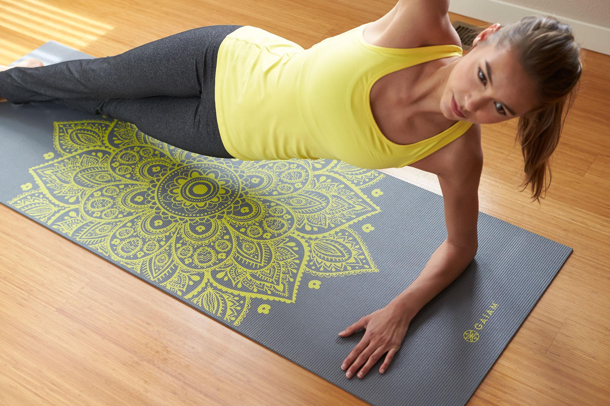 Image result for gaiam print premium yoga mat