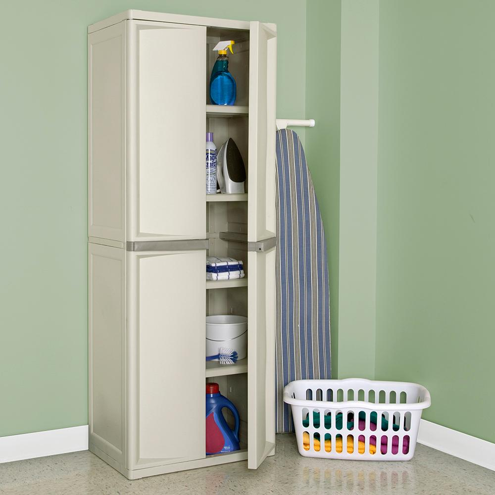 cabinets platinum handles putty shoe with sterilite utility shelf come pin storage new these doors brand cabinet