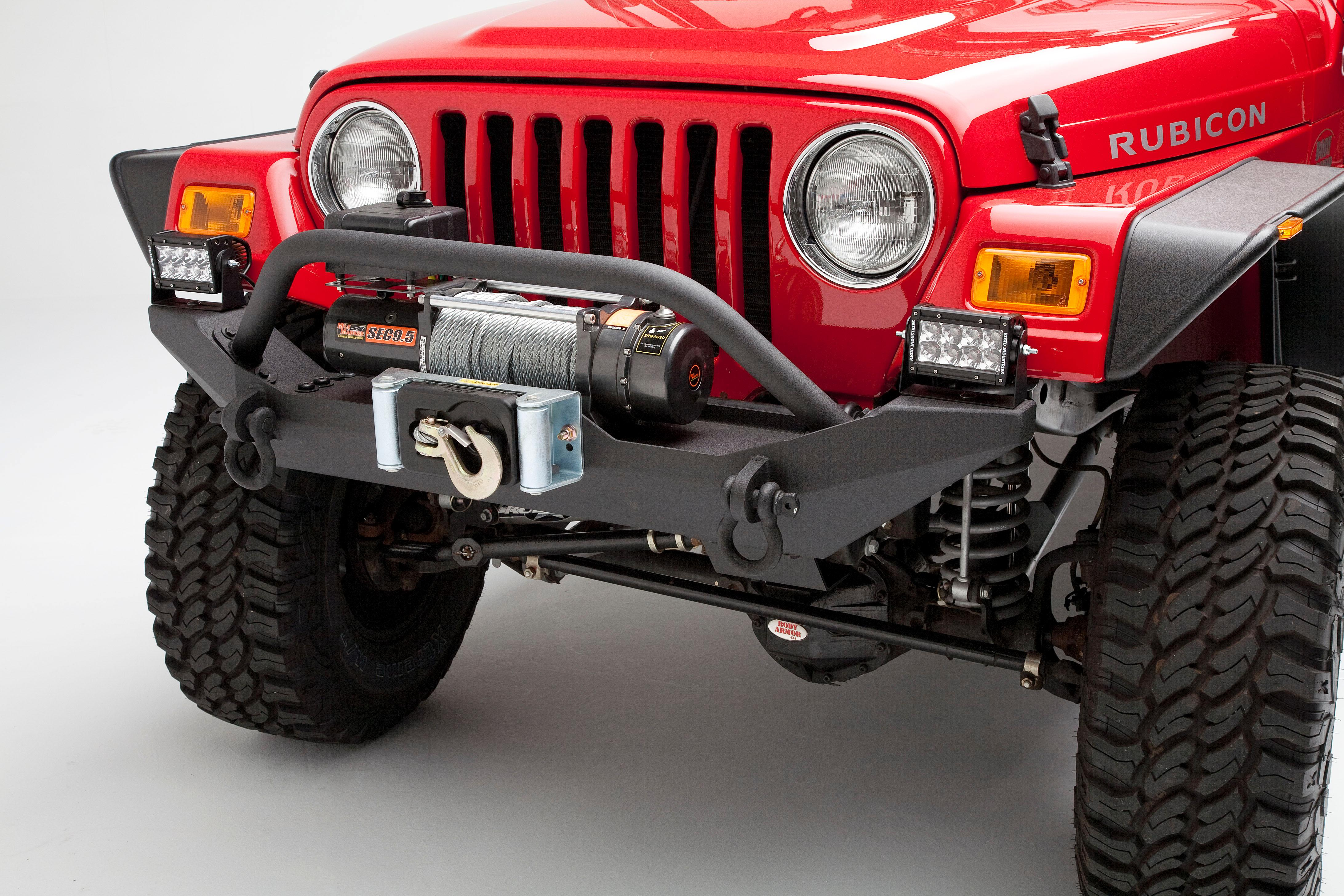 Body Armor 4x4 Tj 19531black Steel Front Winch Bumper For Jeep Rear Wrangler 2008 From The Manufacturer