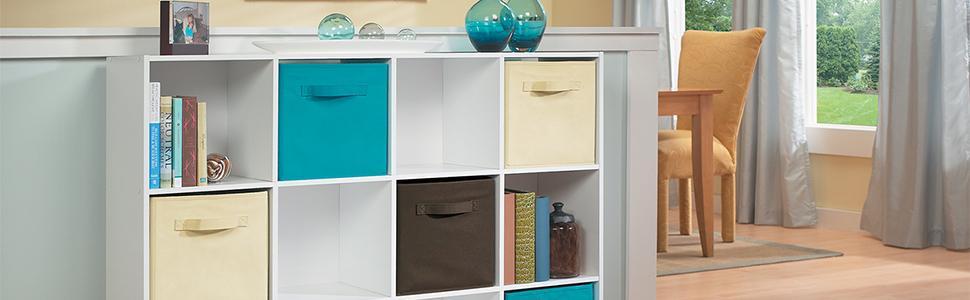 Cubeicals, storage, cubes, fabric drawers, organization, organize your home, closetmaid