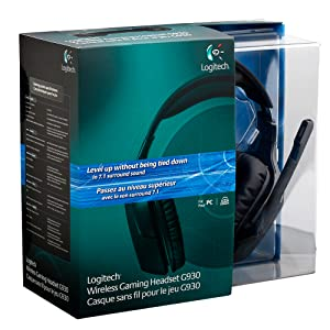 777ad257cf4 Logitech Wireless Gaming Headset G930 with 7.1 Surround Sound ...