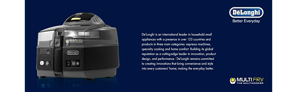 De'Longhi FH1163 MultiFry Ultra Low-Oil Fryer and ...