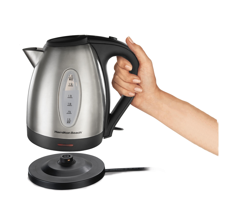 hamilton beach c  liter stainless steel kettle amazonca  - electric tea water hot mini kettles teakettle breville cuisinarttemperature control pour over drip