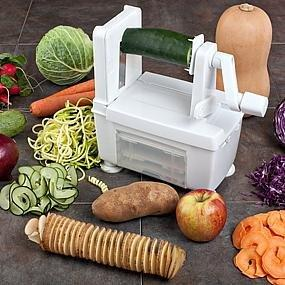 World cuisine tri blade spiral vegetable slicer l 11 7 8 - Paderno world cuisine tri blade spiral vegetable slicer ...