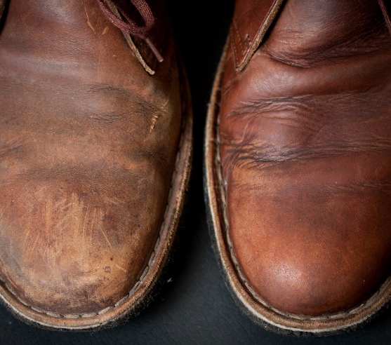 Shoe Polish On Natural Leather