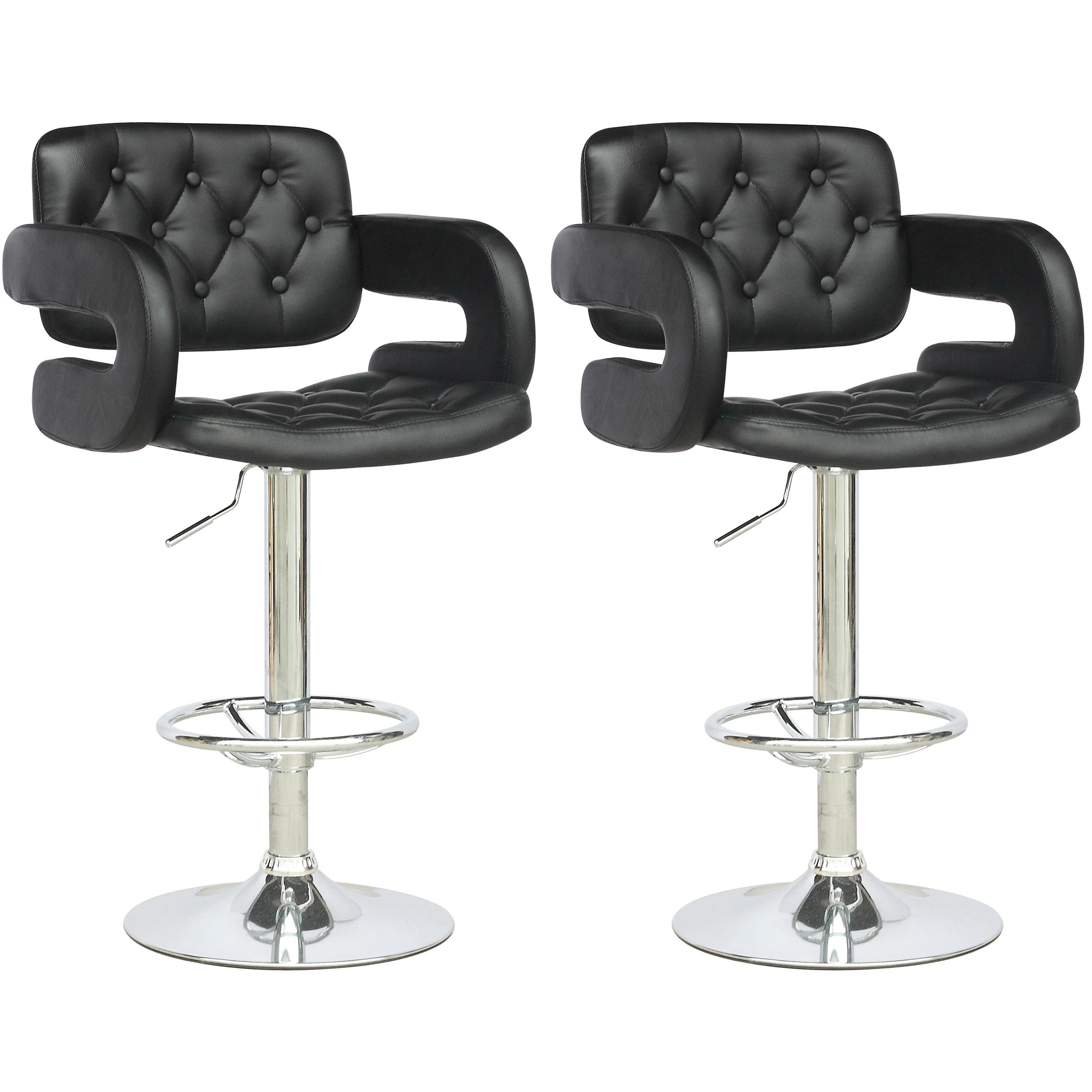 Corliving dab 909 b tufted adjustable bar stool with - Amazon bedroom chairs and stools ...