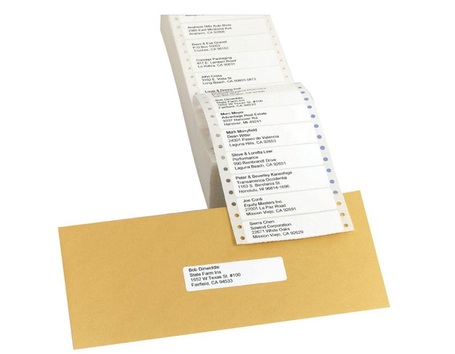 avery continuous form address labels for dot matrix printers 3 5 x