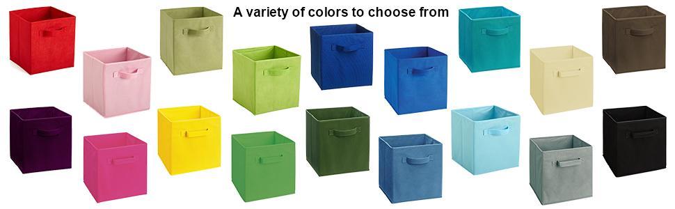 Cubeicals, Fabric Drawers, Fabric Bins, Storage, ClosetMaid, Colorful Fabric  Drawers,