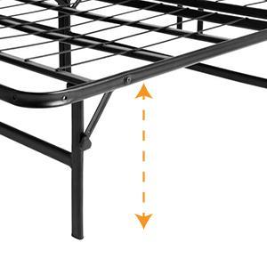 Lucid Foldable Metal Platform Bed Frame And Mattress