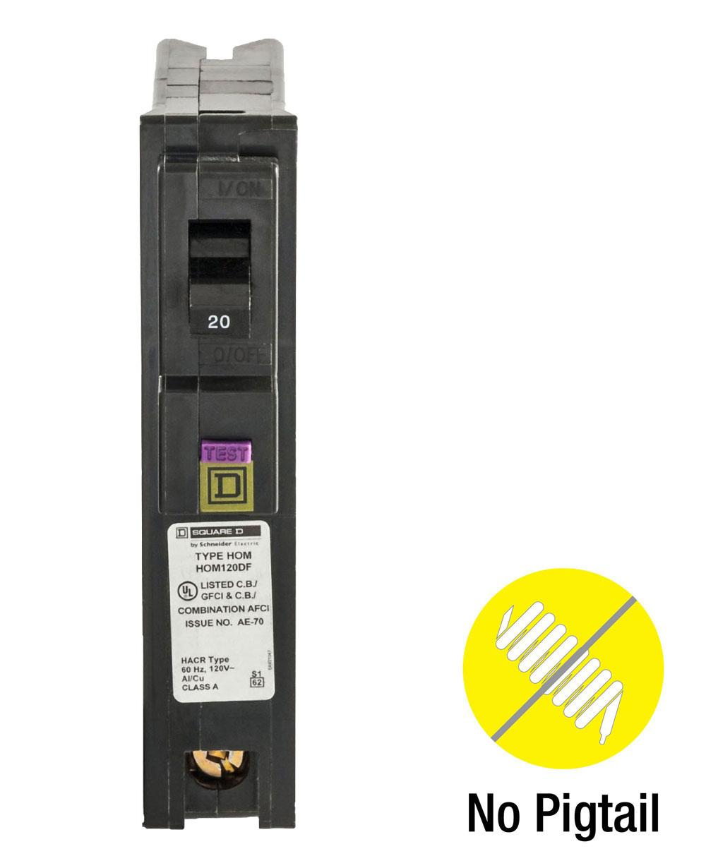 Square D By Schneider Electric Hom120pdfc Homeline Plug On Neutral Ground Fault Circuit Interrupter Gfi Outlet The Detects Advantage