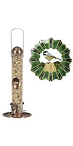 Perky-Pet 2-In-1 Bird Feeder and Chickadee Wind Spinner Set