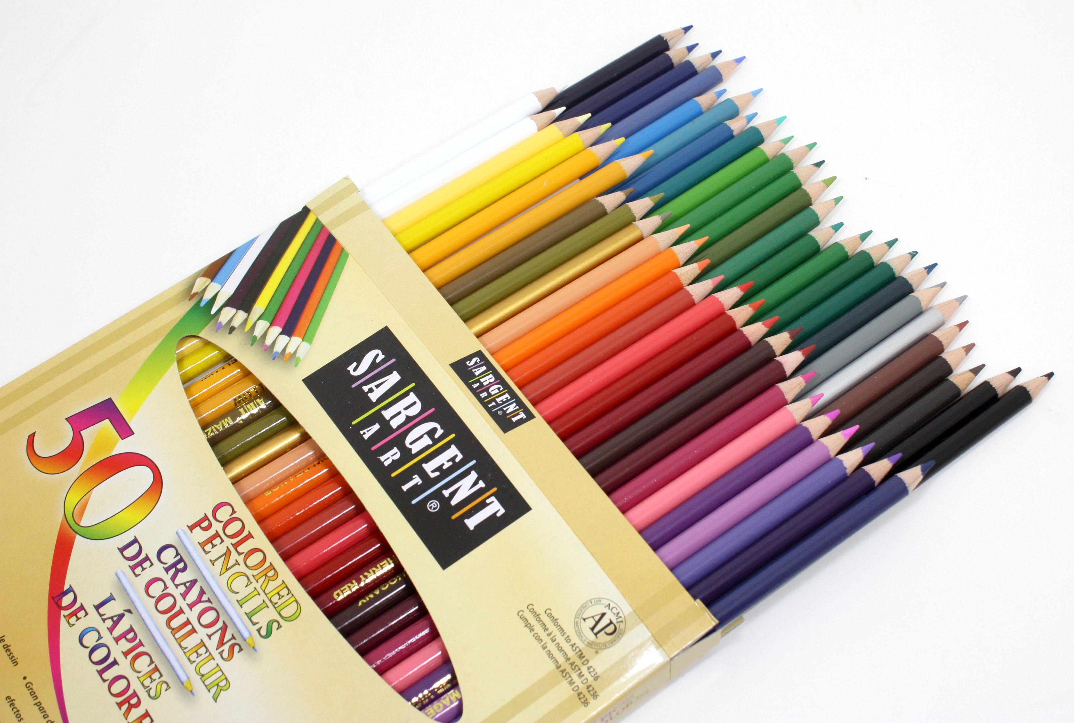 sargent art 22 7251 50 count assorted colored pencils accessory