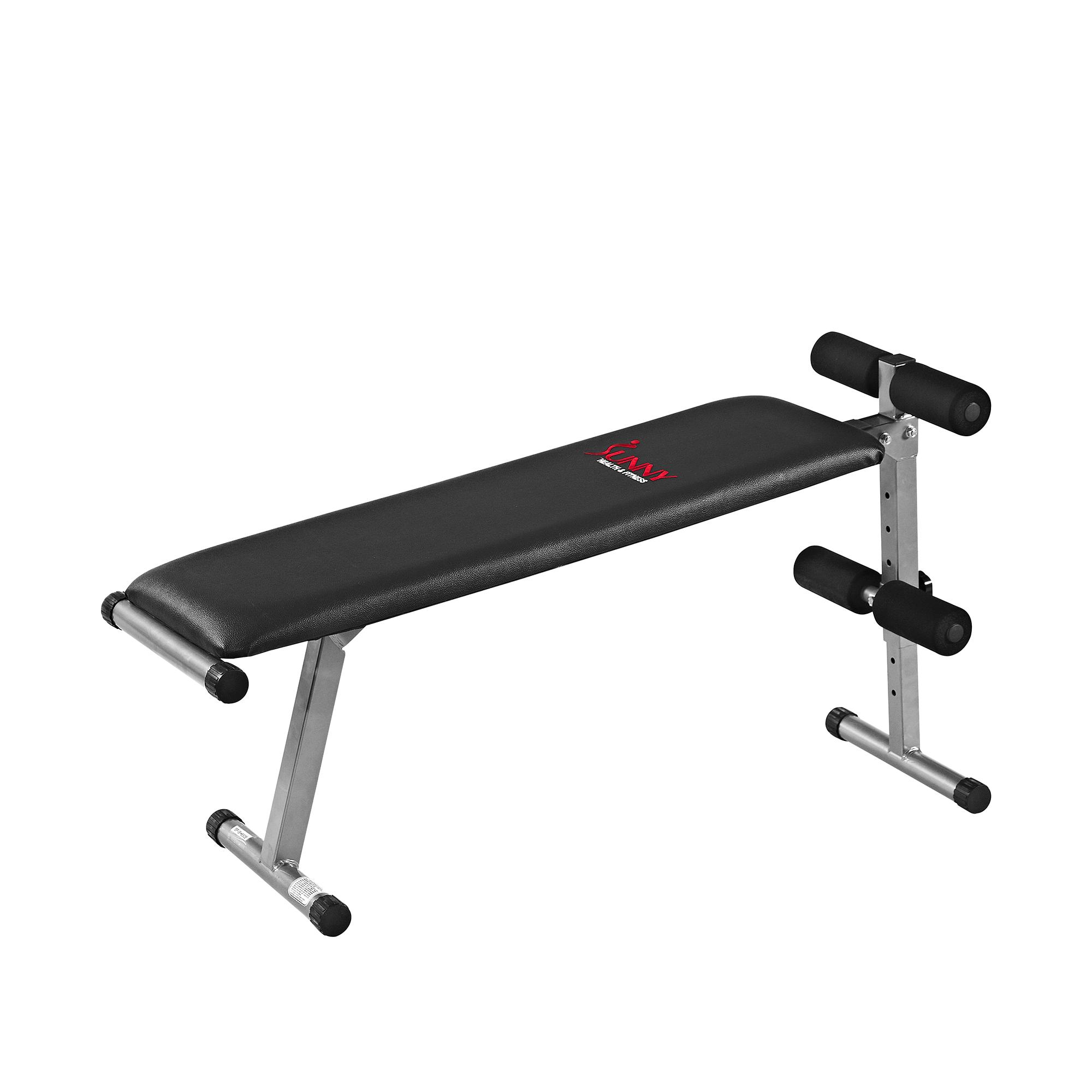 Sunny Health Amp Fitness Sf Bh6505 2 In 1 Flat Sit Up Bench