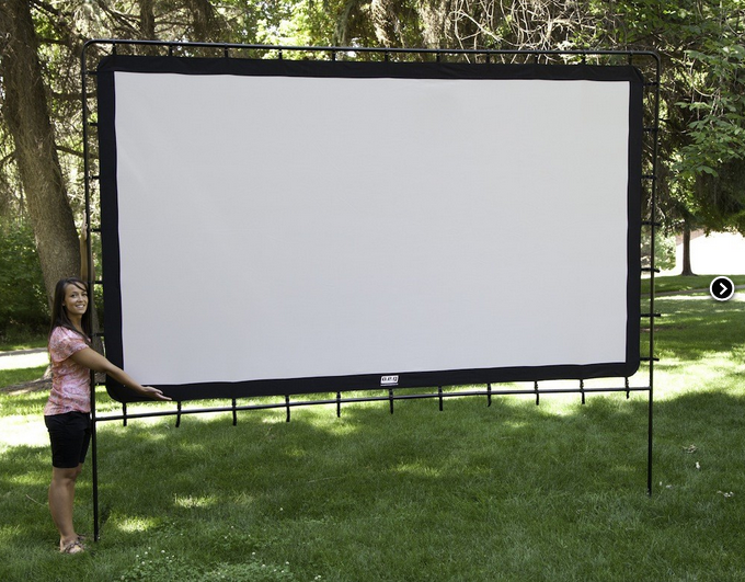 Camp Chef Os 144 Indoor Outdoor Movie Screen White