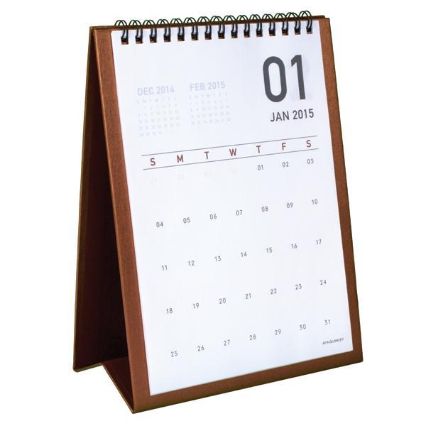 At A Glance Monthly Desktop Easel Calendar 2015 Wirebound