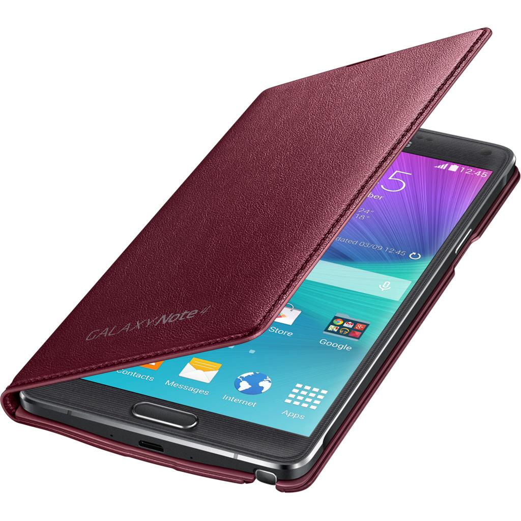 reputable site a17fb 9f494 Samsung Galaxy Note 4 LED Flip Cover, Plum Red