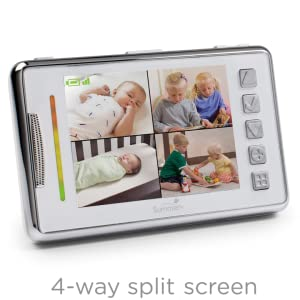 Baby Room Monitors project nursery 5 high definition baby monitor system with 15 mini monitor the Split Screen Technology Enables Viewing More Than One Room At A Time With The Addition Of Cameras To The System Sold Separately Monitor 1 To 4 Rooms