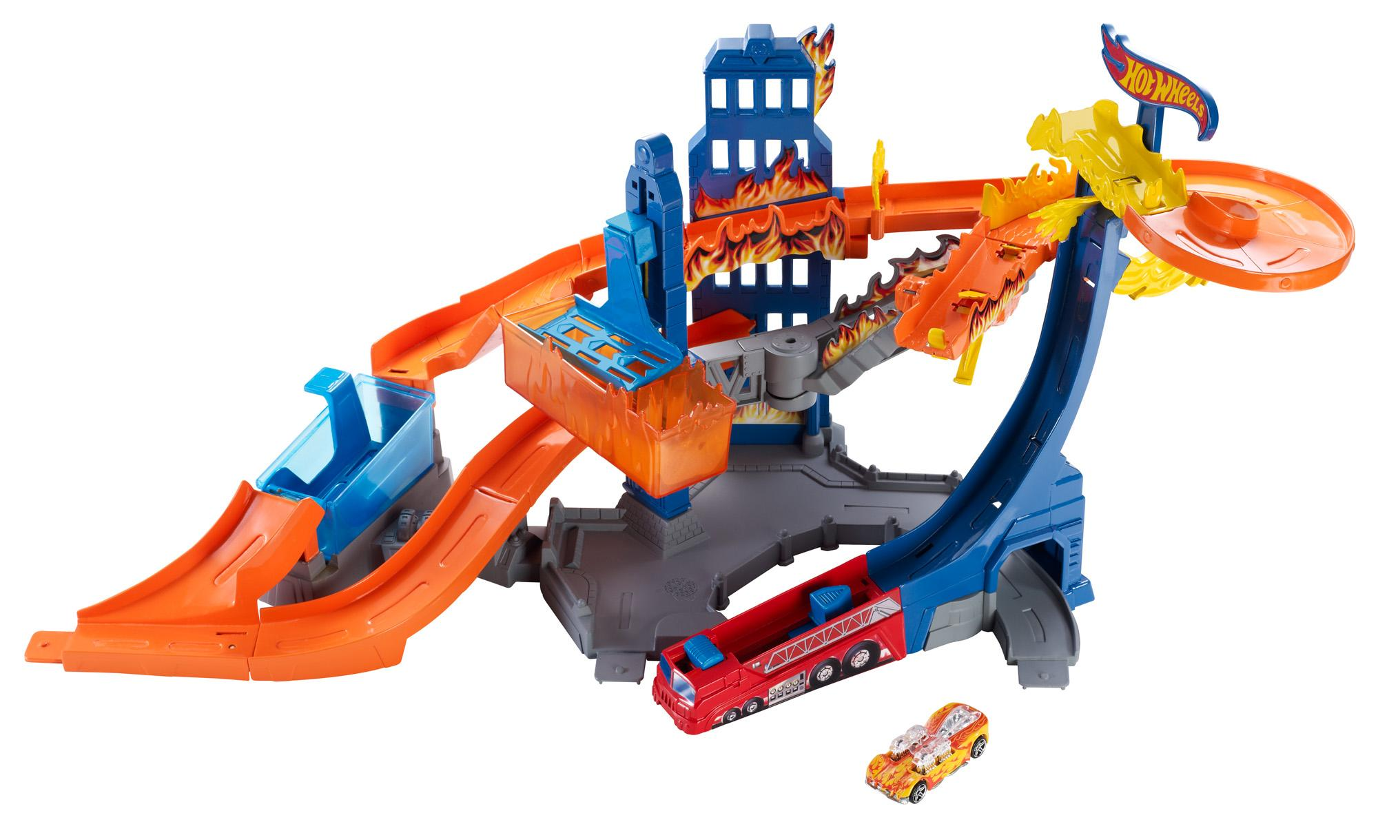 Hot Wheels Color Shifters Flame Fighter Playset Amazonca