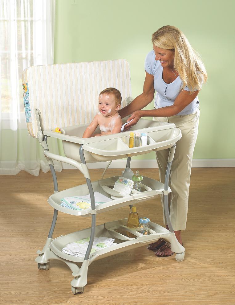 Baby Bath Tub Metal Stand Bath Tub Changing Tables Bath Potties