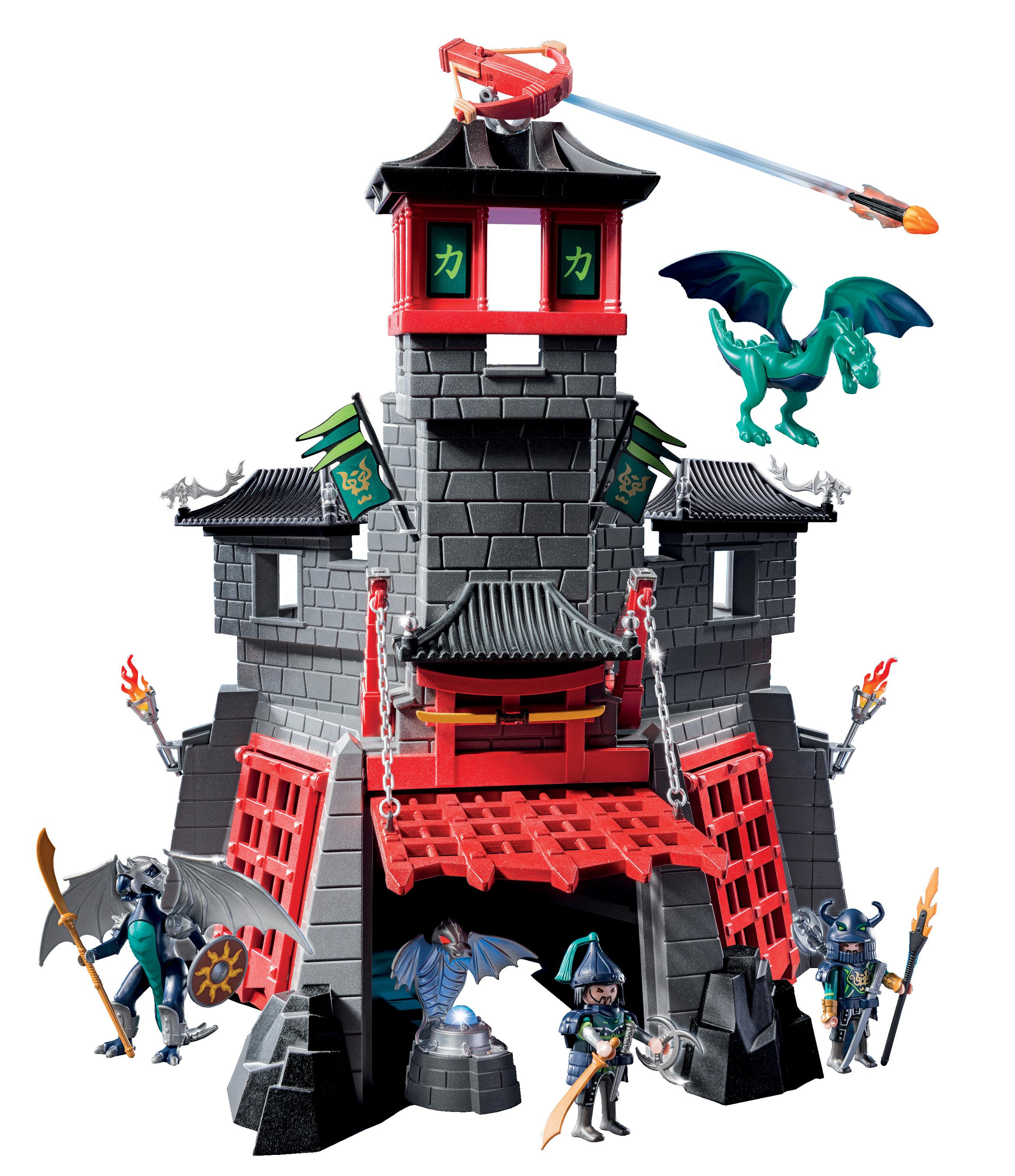 Germany Building Toys For Boys : Playmobil secret dragon fort playset building sets
