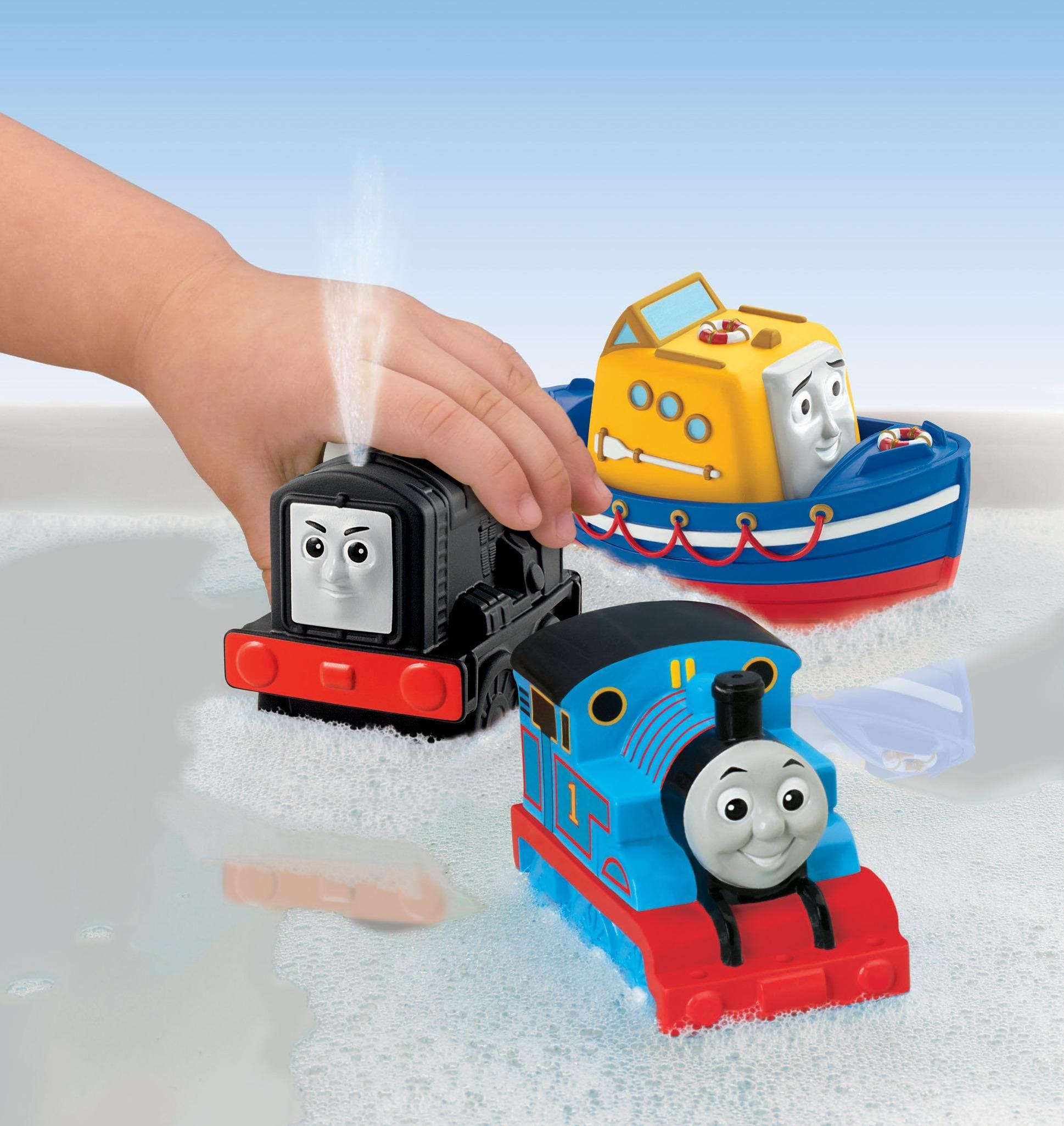 Attractive Thomas The Tank Bath Toys Illustration - Bathroom with ...