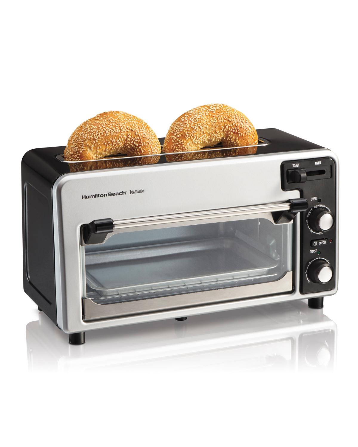Hamilton Beach 2 Slice Toaster and Small Oven bo Black