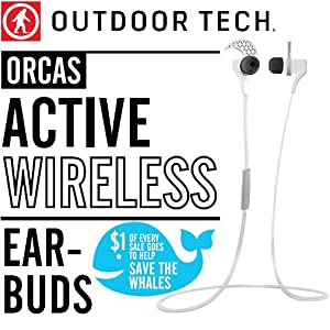 Outdoor Tech Orcas - Active Wireless Bluetooth 4.0 Earbuds